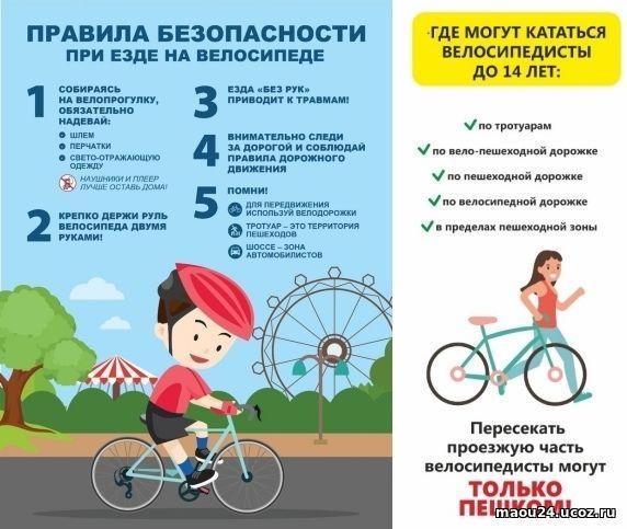 памятка велосипедисту